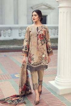 Shree Fabs Firdous Exclusive Collection Vol 4 Pure Cotton Printed with Embroidery Salwar Suit 6187 Latest Pakistani Dresses, Pakistani Lawn Suits, Pakistani Dress Design, Pakistani Outfits, Anarkali Suits, Punjabi Suits, Indian Outfits, Pakistani Street Style, Pakistani Fashion Casual