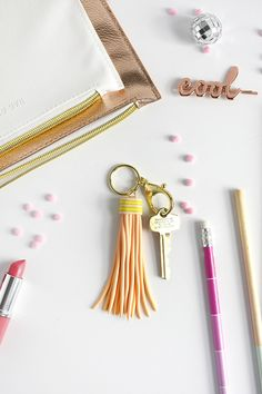 Fun and Easy to craft DIY Clay Tassel Keychain, Delineate Your Dwelling