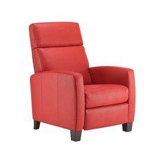 Yellow leather recliner chair - accent chair - Modern recliner - Bellevue furniture