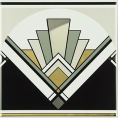 Original Style Art Deco Fan Tile