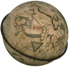 Celestial globe showing Argo Navis Argo Navis (which means 'the ship Argus or Argo') is a Southern constellation created by the Ancient Greeks, who pictured it as the ship in which Jason with the Argonauts sailed in search of the Golden Fleece. Astronomers in the 18th century decided that it was too big to be just one constellation, so it was divided into 4 smaller ones: Puppis, (the Stern), Vela (the Sails), Pyxis (the Compass) Carina (the Keel). These names are still in use today.
