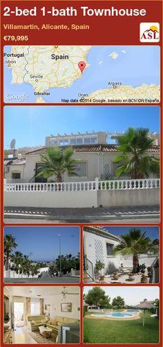 2-bed 1-bath Townhouse in Villamartin, Alicante, Spain ►€79,995 #PropertyForSaleInSpain
