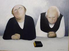 Albert Bertelsen - Eftertanke Watercolor Portraits, Painters, Danish, Modern Art, Scandinavian, Illustration Art, Artists, Board, Kitchen