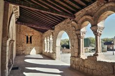 Rejas de San Esteban, provincia de Soria - Galería porticada románica de la iglesia de San Ginés