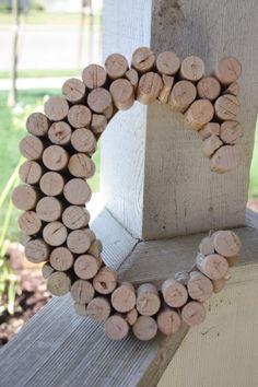DIY Wine cork letter