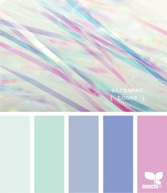 streamer tones - A great example of colour combinations that work. Cool blue and mint pastel tones with a pop of pink or purple