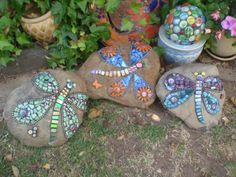 All done by Poppins Mosaics and Crafts, via Flickr
