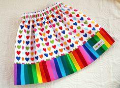 I {heart} rainbows skirt - babeagogo.etsy.com