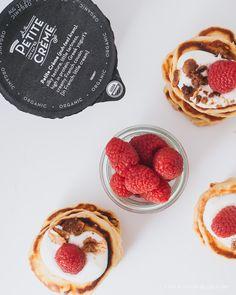 raspberry crumble pancake recipe - www.iamafoodblog.com #pancakes #brunch #breakfast #recipe #raspberries #yogurt