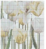Cuscino tulipani bianchi 4/5