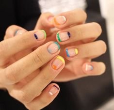 Looking for some elegant negative space nail art designs and ideas? If you want to find a new look in this season, then try some negative space nails. Negative space refers to the area around the object, which is the focus of a particular image. Nail Polish, Gel Nails, Nail Nail, Cute Nails, Pretty Nails, Negative Space Nails, Moon Nails, Nail Swag, Rainbow Nails