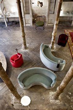LIDO | armchair | Ignazio Gardella | FAGIOLO | sofa | Azucena | seen at pop up showcase 'In Between Times' in Berlin | 2013