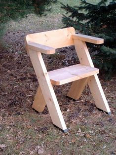 A Chair for the Great Outdoors : 9 Steps (with Pictures) - Instructables Diy Kids Furniture, Outdoor Furniture Plans, Woodworking Furniture Plans, Simple Furniture, Furniture Storage, White Furniture, Outdoor Tool Storage, Outdoor Tools, Outdoor Benches