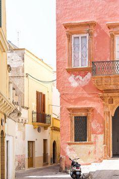Colorful streets in Gallipoli, Puglia, Italy