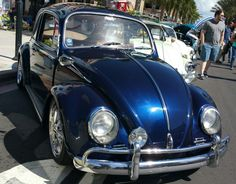 '66 bug with 2015 Maserati Blue Oceano Paint by BASF Glasurit