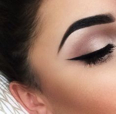 shimmery shadow and and winged liner  ~  we ❤ this! moncheribridals.com #weddingmakeup