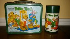 VINTAGE ROBIN HOOD WALT DISNEY LUNCH BOX WITH PLASTIC THERMOS