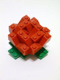 Rose | Xavier Viloria | Flickr Lego Flower, Lego Tree, Lego Valentines, Lego Animals, Lego Christmas, Lego Building Blocks, Lego For Kids, Lego Design, Lego House