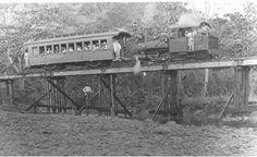 El tren entre Rio Piedras y Caguas