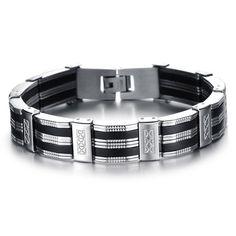 Fashion Pattern Decorated Link Bracelet For Men #women, #men, #hats, #watches, #belts, #fashion