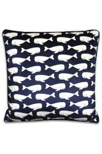 Whale print pillow