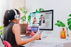 Asian business woman work from home with laptop, tablet and computer on table with meeting online and video conferencing.Concept of social distancing to stop the spread disease of Corona virus. Work From Home Jobs, Make Money From Home, Make Money Online, How To Make Money, Business Women, Online Business, Animation Institute, Technology And Society, Amazon Jobs