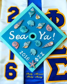 """Sea Ya! Marine Biology graduation cap design #graduationcap…"