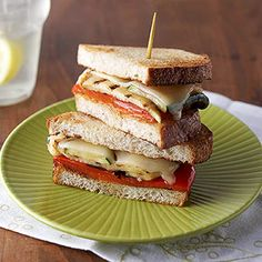 Sandwich Recipes They'll Love: Grilled Veggie Sandwiches (via Parents.com)