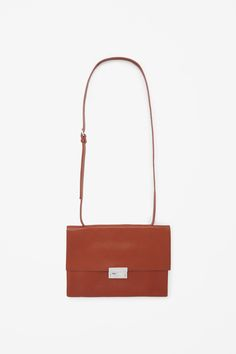 Leather bag with clasp
