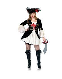 Captain Swashbuckler Adult Womens Plus Size Costume