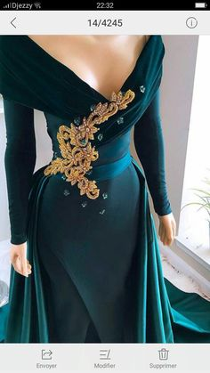 Hunter Green Evening Dresses With Over Train Front Split Off Shoulder Draped Sweep Train Appliques Beads Formal Prom Gowns robes de soirée Evening Dresses Sydney, Green Evening Dress, Evening Gowns, Sequin Prom Dresses, Event Dresses, Couture Mode, Party Gowns, Beautiful Gowns, The Dress
