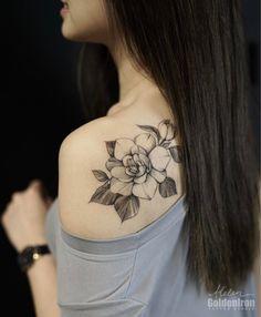 """1,138 Likes, 6 Comments - Helen Xu 徐婉桐 (@helenxu_tattoo) on Instagram: """"Gardenia on my dearest Grace❤❤❤ @graceee.lxy"""""""