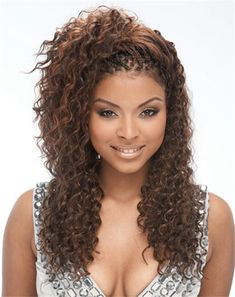 I love people with weavy hair like this but usually they don't like it