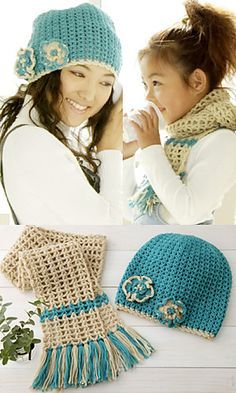 Crochet Hat and Scarf ~ Free Pattern