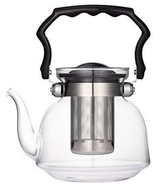 Uniware Pyrex glass Teapot with Filter 2200ml Clear -- To view further for this item, visit the image link.