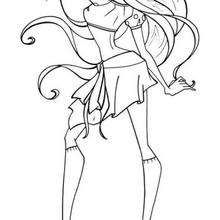 Winx Flora In Position Coloring Page