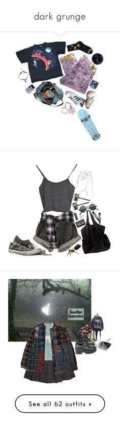 """""""dark grunge"""" by iamcharliefawn ❤ liked on Polyvore featuring Vivienne Westwood Anglomania, adidas, CO, Ganni, Hollywood Mirror, Chapstick, Holly Ryan, H&M, Louis Vuitton and Chicnova Fashion"""
