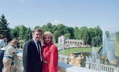 Дональд Трамп с первой женой, 1987 год, Петергоф