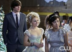 """The Carrie Diaries -- """"Caught"""" -- Pictured (L-R): Richard Kohnke as George, AnnaSophia Robb as Carrie, and Ellen Wong as Mouse -- Image Number: CD107a_0208b.jpg -- Photo: Patrick Harbron/The CW --  2013 The CW Network, LLC. All rights reserved."""
