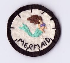 Mermaid Patch by Hanecdote on Etsy, £7.00
