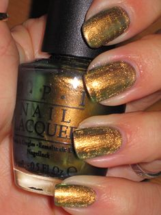 O.P.I.- Just Spotted The Lizard  This site gives reviews on TONS of nail polish - LOVE LOVE LOVE