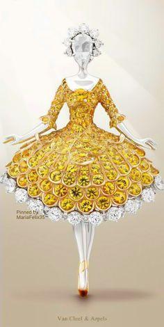 Rosamaria G Frangini | High Classic Jewellery | TJS | Van Cleef & Arpels Yellow ballerina