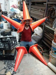 Traffic Cone Starfish. it gets funnier the longer you stare at it!