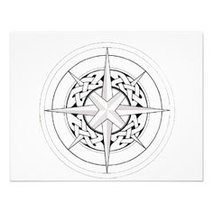 Love the Celtic look to this compass.