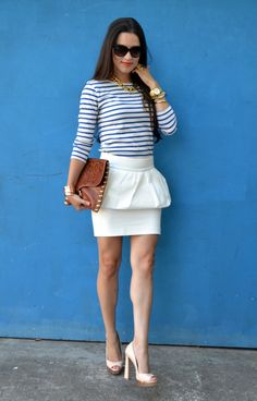 Peplum & Stripes from Kitties & Couture