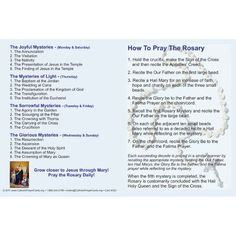 How+to+Pray+the+Rosary+Pamphlet+Printable