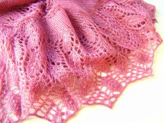 Knit shawl. Angora yarn knitting old rose shawl. by ATLASKNITSHOP, $109.00