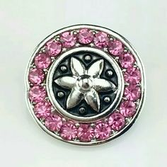 Pink Crystal Star Chunk Snap Button Charm NWOT 4 for $12~Add your favorites to a bundle and I will create a listing Jewelry