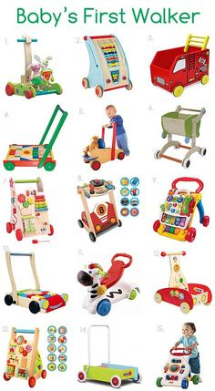 toy didactic Baby Walker-- this is probably Autumns favorite toy now. Shes 9 months old and loves cruising around the house with her walker. First Walkers, Baby Walkers, Wooden Baby Toys, Wood Toys, Fun Activities For Kids, Infant Activities, Toys For Boys, Kids Toys, Push Toys