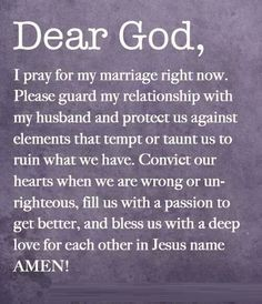 Marriage Prayer